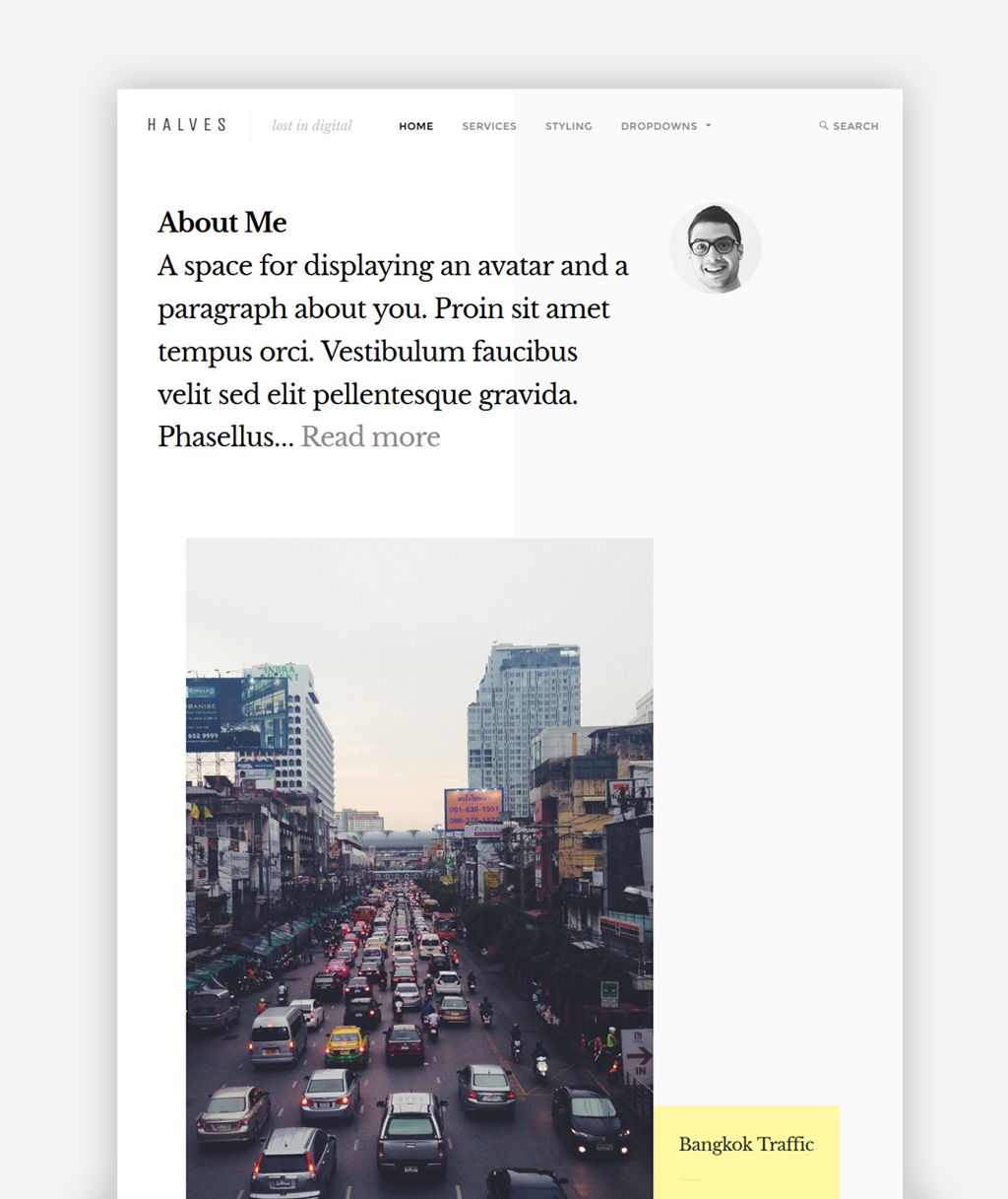 Halves WordPress Theme